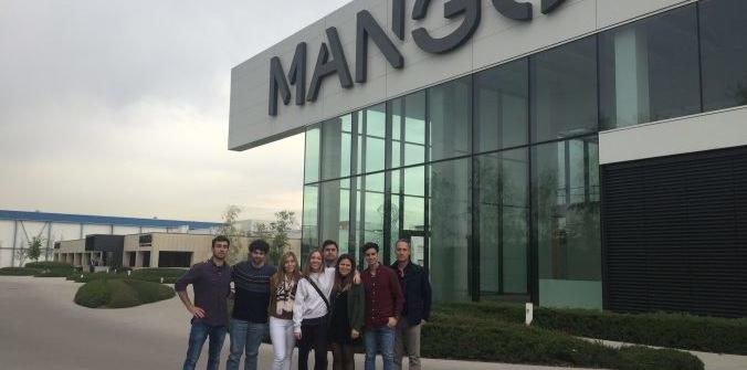 Estudiantes del Campus de Alcoy de la UPV visitan MANGO en Barcelona